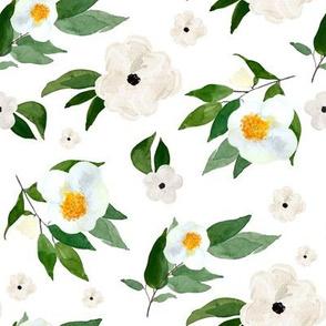 """8"""" White Flowers White"""