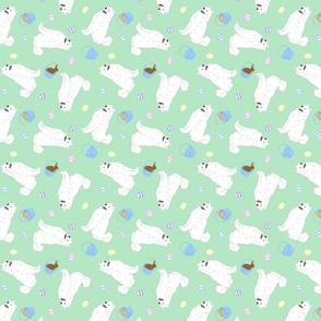 Tiny Samoyed - Easter