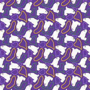 Tiny Samoyed - Mardi Gras