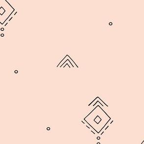 Geometric minimal indian summer mudcloth abstract aztec kilim design beige JUMBO