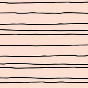 Minimal strokes irregular stripes abstract lines geometric spring peach baby
