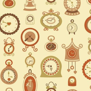 Retro Clocks in Shades of Brown