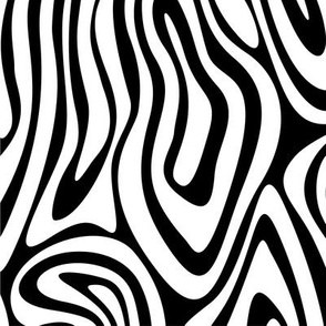 Retro Swilry Pattern Black and White-01