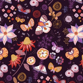 butterflies - folk eggplant