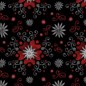 Mysterious Red Floral