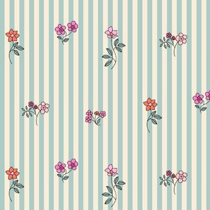 Ditsy Striped Floral