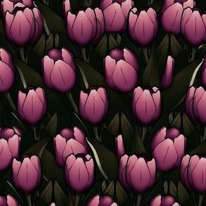 gothy tulips