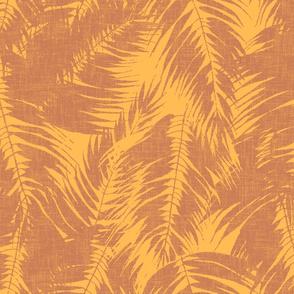 big tropical palm in terracotta