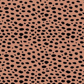Cool abstract leopard dalmatian dots and spots scandinavian style design animal skin fall brown copper SMALL