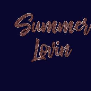 Summer Lovin Rose Gold on Navy Blue
