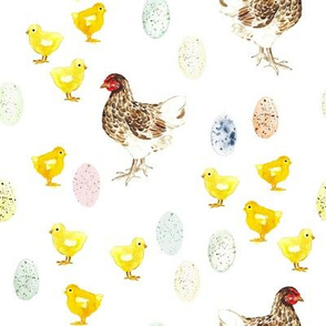 Easter Egg Chickens // White