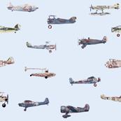 Blue Sky Airplane Pattern