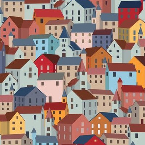 Colorful Town House Roofs