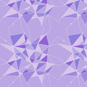 Geometric Purple Wall
