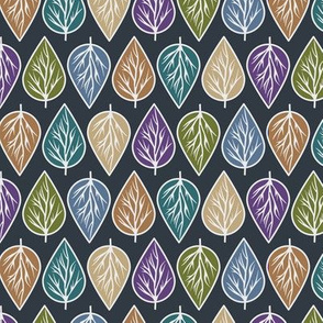 Leaves Repeat Pattern in Earthy Tones