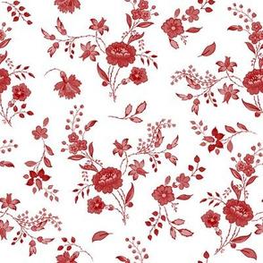 Williamsburg Toile cranberry