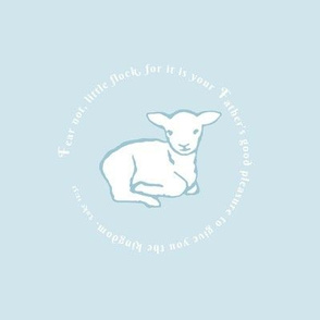 Little Lamb white on blue