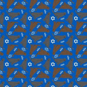 Tiny Flat Coated Retrievers - Hanukkah