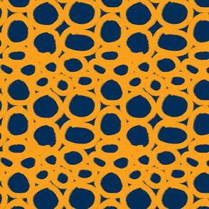 inky circles mustard navy