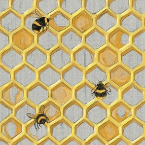 Widdle Bitty Bees-Golden Honeycomb Hive//Single