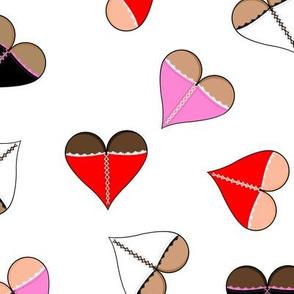 corset hearts