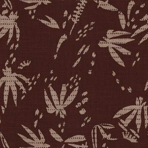 FRENCH VINTAGE JUNGLE MAROON
