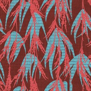 FRENCH VINTAGE PALM MAROON