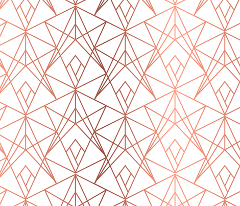 Rose Gold Fragments fabric by heatherhightdesign on Spoonflower - custom fabric