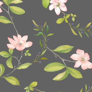 Blush Magnolia on Grey