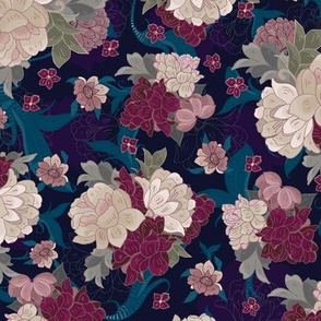 Moody Floral Peonies