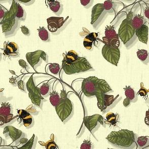 Widdle Bitty Bees- Raspberry//Cream