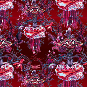 """""""Merlot"""" pattern on blackberry ombre"""