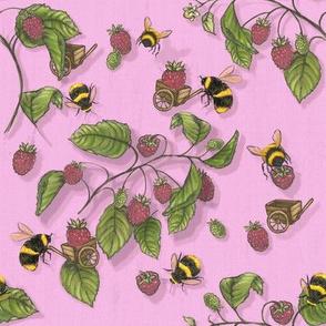 Widdle Bitty Bees-Raspberry  Sherbert Pink
