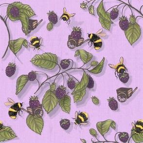 Widdle Bitty Bees-Blackberry Lavender Purple