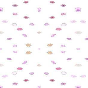 Lips Fabric White