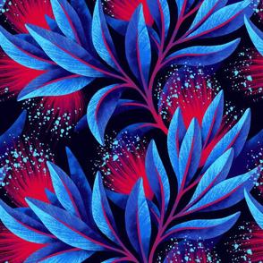 Pohutukawa - Blue / Red - Andrea Muller