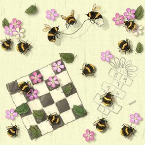 Widdle Bitty Bee Park Games - Cream