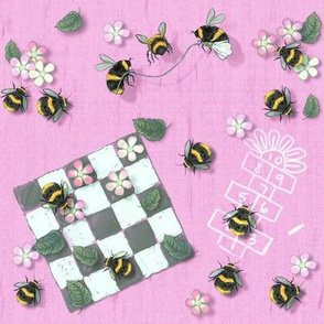 Widdle Bitty Bees- Park Games// Sherbet Pink//Kim Marshall