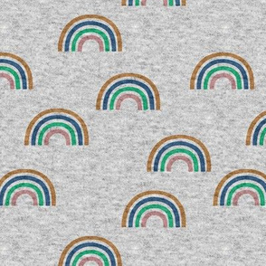Jersey knit texture rainbow fabric scattered