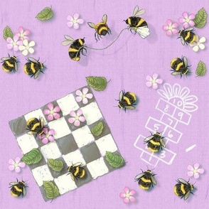 Widdle Bitty Bees- Park Games // Lavender Purple//Kim Marshall
