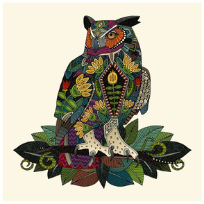 wise owl foliage 18 inch pillow