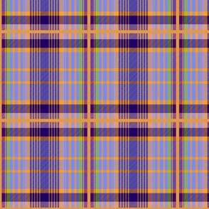 Tartan #9 - purple, orange, green