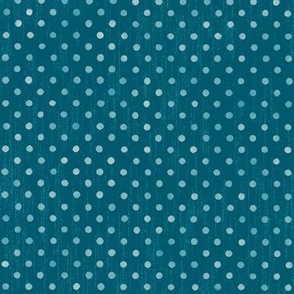 tropical polka dots on icy blues
