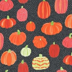 Pumpkins on Dots