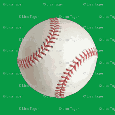 Green Half Inch Baseballs