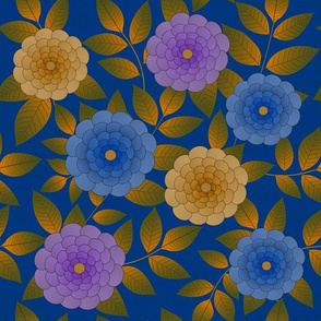Flowers on Blue