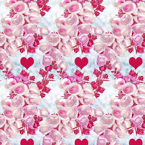 fox glove with red heart repeat