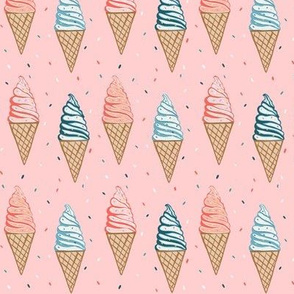 Soft serve ice cream cones
