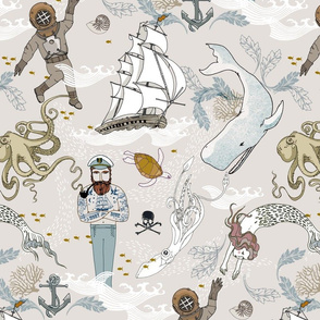 Cephalopods + Old Sea Dogs (Not KNIT) LRG