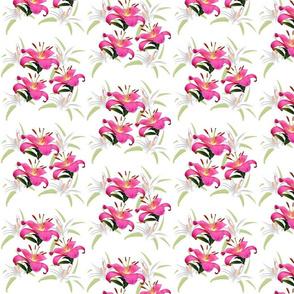 Lily Sprays - small, white
